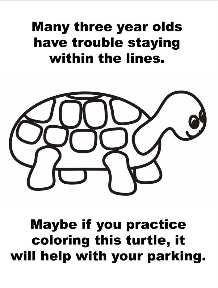 Colouring-in sarcastic message pdf