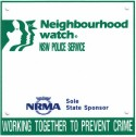 Neighbourhood Watch letterbox plaque (old version)