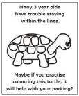 turtle colouring-in x1 2021
